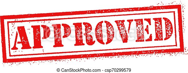 Approved stamp red - csp70299579