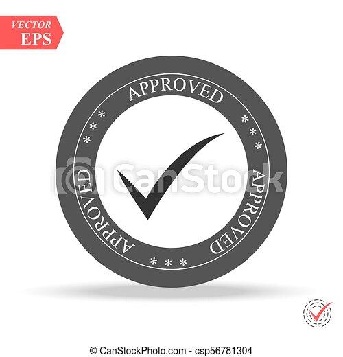 approved. stamp. sticker. seal. round grunge vintage black approved sign - csp56781304