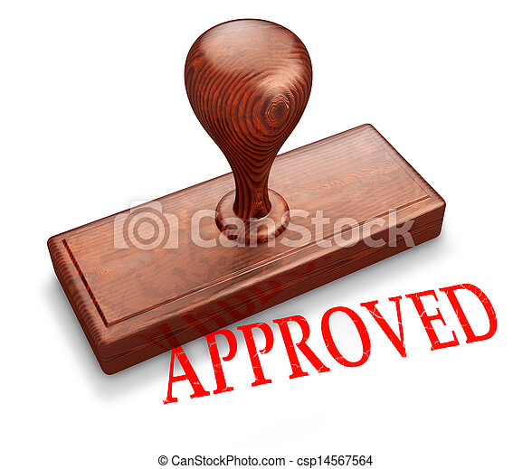 Approved stamp - csp14567564