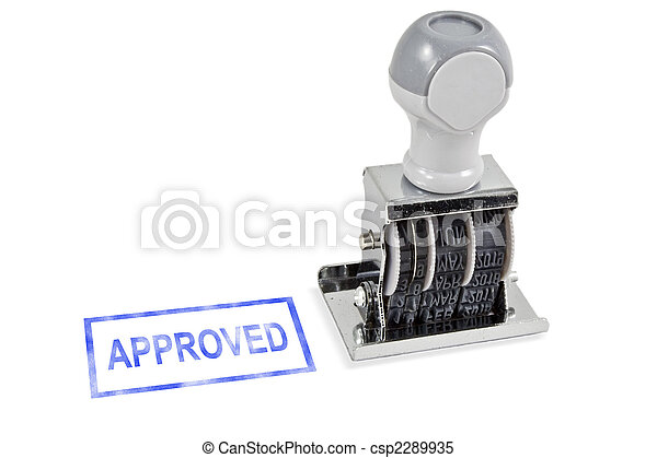 Approved Stamp - csp2289935
