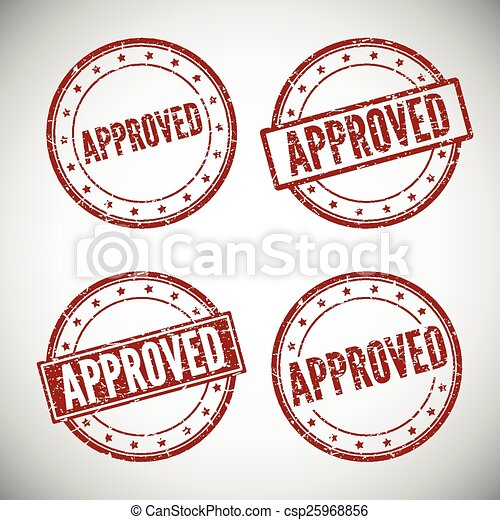 Approved stamp, vector illustration - csp25968856