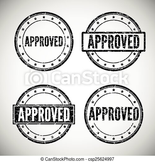 Approved stamp, vector illustration - csp25624997