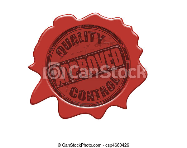 Approved wax seal - csp4660426