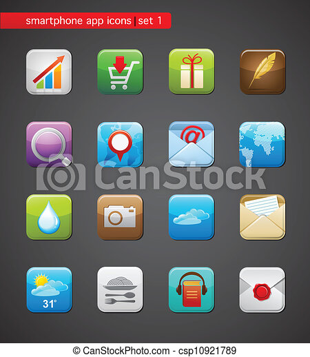 apps, collection, icônes - csp10921789