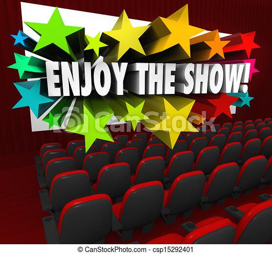 apreciar, teatro, entretenimento, tela filme, mostrar, divertimento - csp15292401