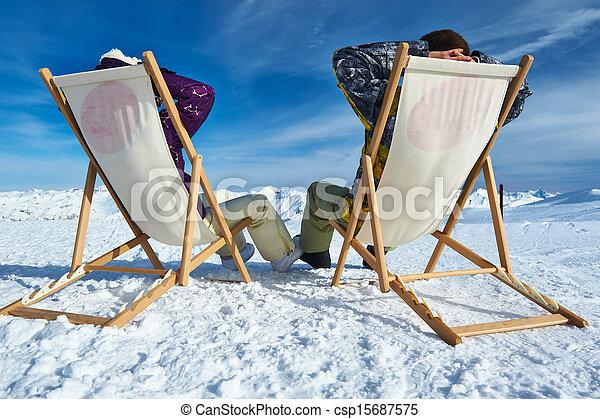 Apres ski at mountains - csp15687575