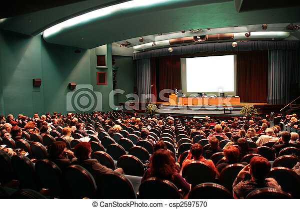 apresentação, aditorium - csp2597570