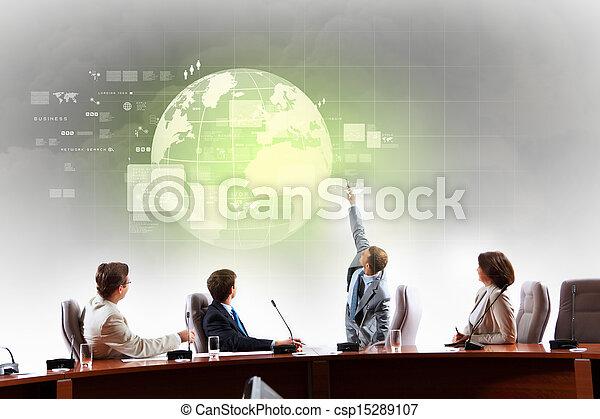 apresentação, negócio - csp15289107