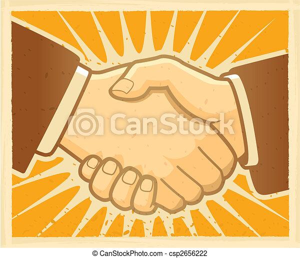 Un acuerdo de apretón de manos - csp2656222