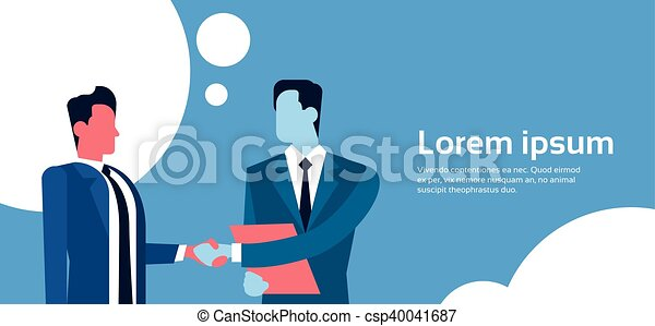 Dos apretón de manos de hombre de negocios, concepto de apretón de manos de hombre de negocios - csp40041687