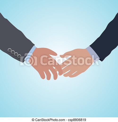 Vector dos manos listas para el acuerdo de apretón de manos - csp8806819