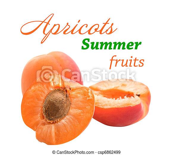 apricot on white background - csp6862499