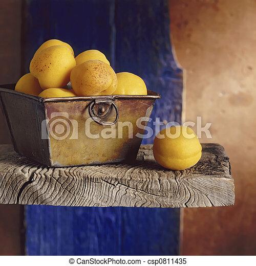 Apricots still life - csp0811435