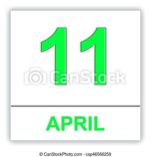 april 11 day on the calendar 3d illustration rh canstockphoto com april calendar clip art religious