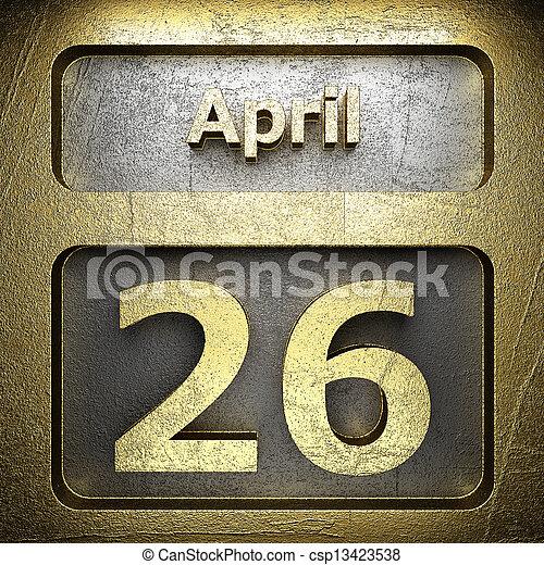 april 26 golden sign - csp13423538