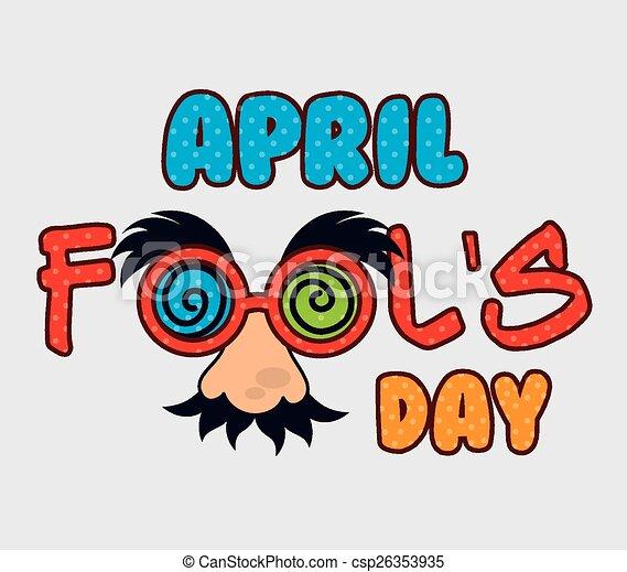 april fools day design april fools day card design vector rh canstockphoto com april fools birthday clipart happy april fools clipart