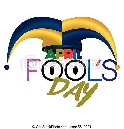 april fools day graphic design vector illustration eps vectors rh canstockphoto com april fool clip art free april fools clipart black and white