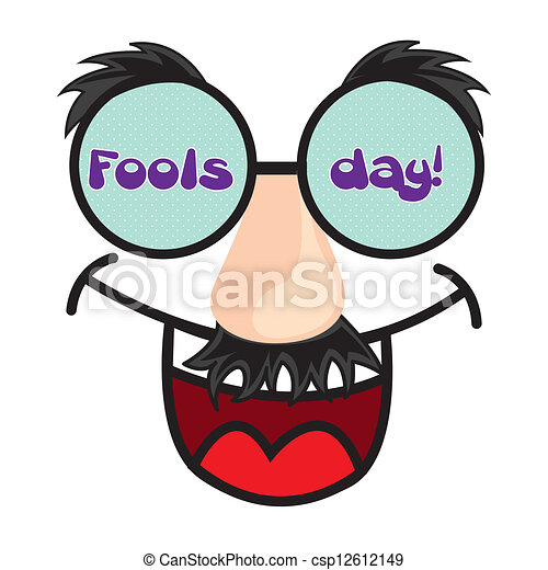 april fools day april foods day illustration with fun face eps rh canstockphoto com happy april fools clipart april fools clipart free