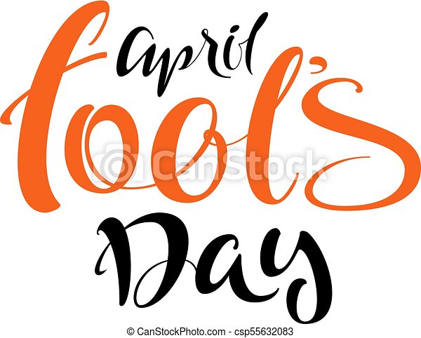 april fools day lettering handwritten calligraphy text for vector rh canstockphoto com april fools easter clipart april fools easter clipart