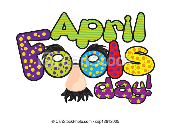 april fools day april foods day illustration with words vector rh canstockphoto com april fools clipart black and white april fools clipart black and white