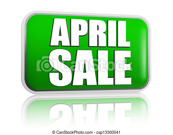 April sale green banner - csp13300041