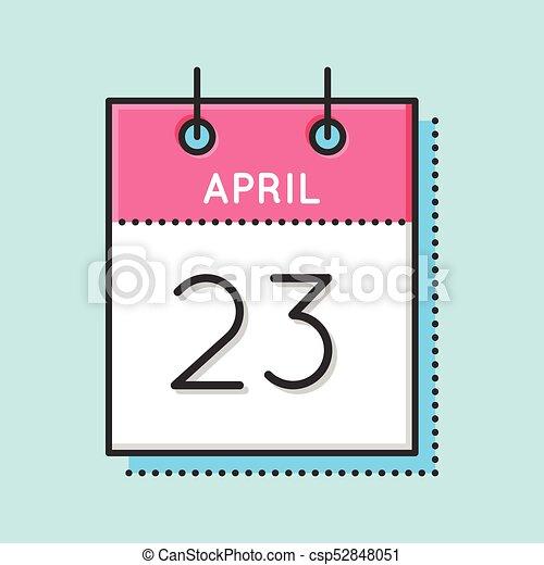 Calendario Ebreo.Aprile Calendario Icona
