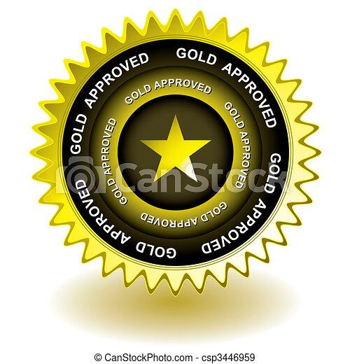 Un icono dorado aprobado - csp3446959