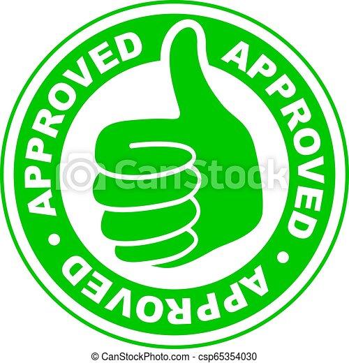 Pulgares aprobados en icono - csp65354030