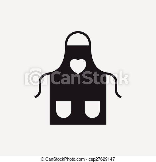 apron icon - csp27629147
