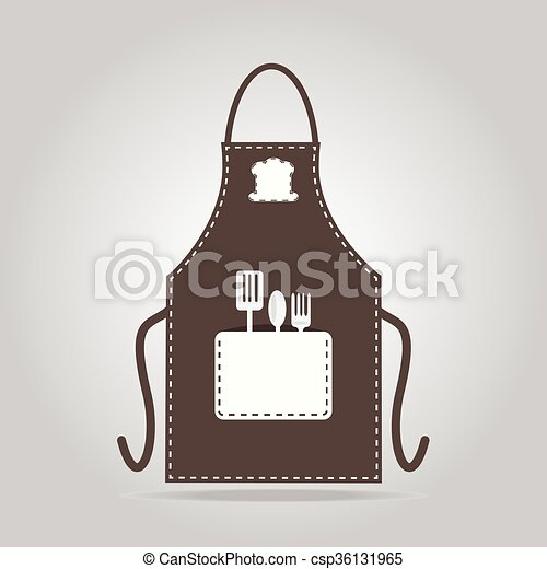 Apron icon, kitchen cooking sign - csp36131965