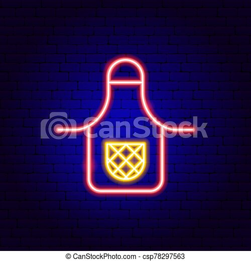 Apron Neon Sign Vector Illustration Of Kitchen Promotion Canstock