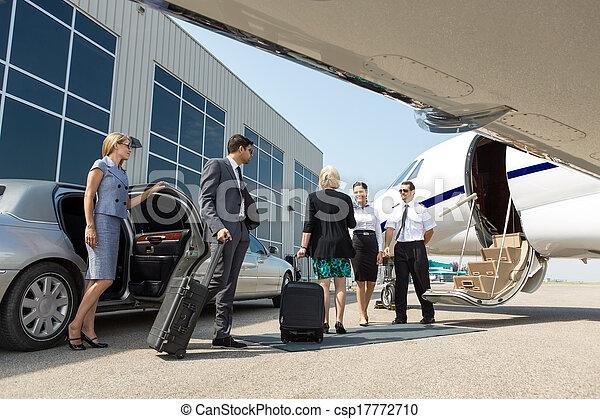 aproximadamente, jato, negócio, privado, tábua, profissional - csp17772710