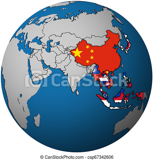 APT on globe map with asia - csp67342606