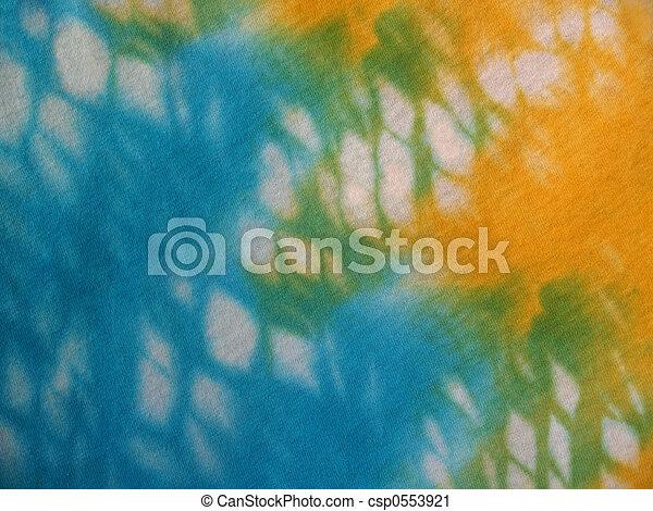 Aqua, Yellow Tie-dye - csp0553921