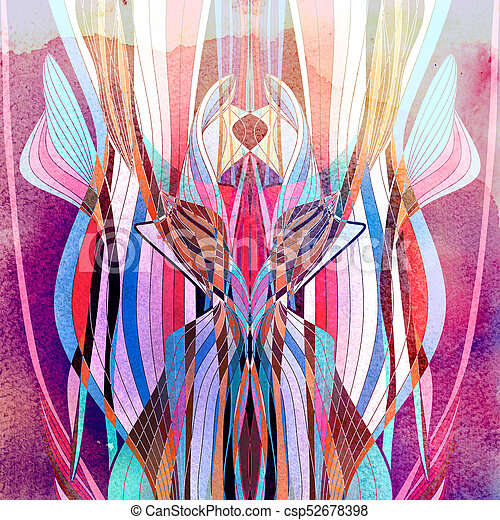 aquarela, abstratos, ondulado, fundo - csp52678398