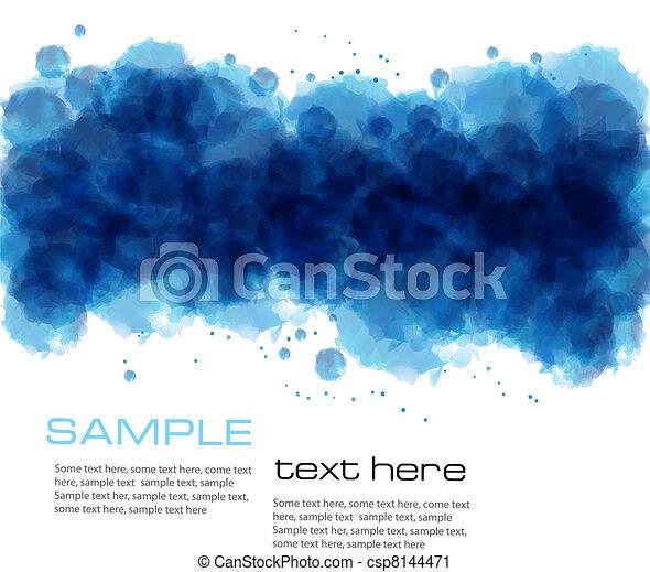 aquarela, experiência., abstratos - csp8144471