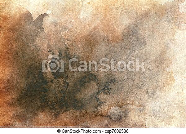 aquarela, grande, fundo - csp7602536