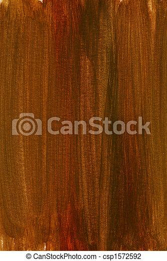 aquarela, marrom, experiência vermelha - csp1572592