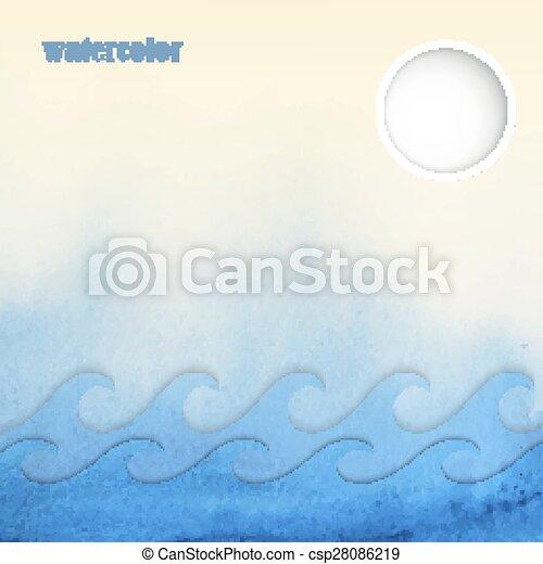 aquarela, onda - csp28086219