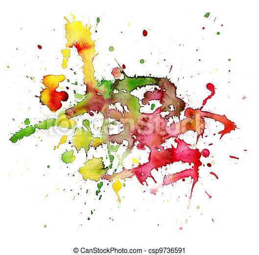 aquarela, pintado, abstratos, backgro - csp9736591