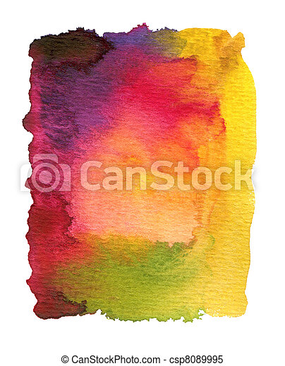 aquarela, pintado, abstratos - csp8089995