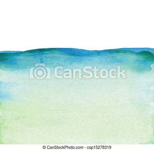 aquarela, pintado, abstratos, fundo - csp15278319