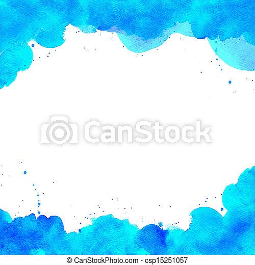 aquarela, pintado, abstratos, fundo, mão - csp15251057
