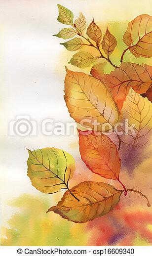 aquarela, ramo - csp16609340