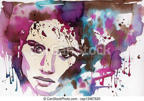 Wasserfarbene Illustration - csp13467620