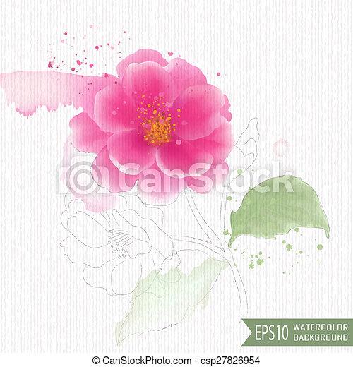 aquarell, abbildung - csp27826954