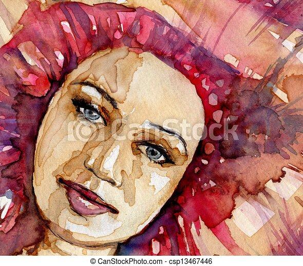 Wasserfarbene Illustration - csp13467446