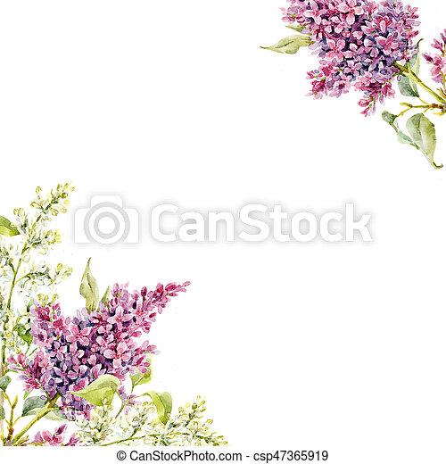 aquarell blumen rahmen lila sch ne lila rahmen abbildung hand aquarell blumen. Black Bedroom Furniture Sets. Home Design Ideas