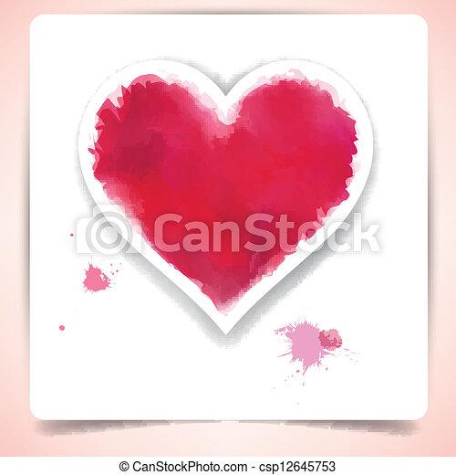 Aquarell Herz Aus Papier Sheet Herz Sheet Aus Eps10