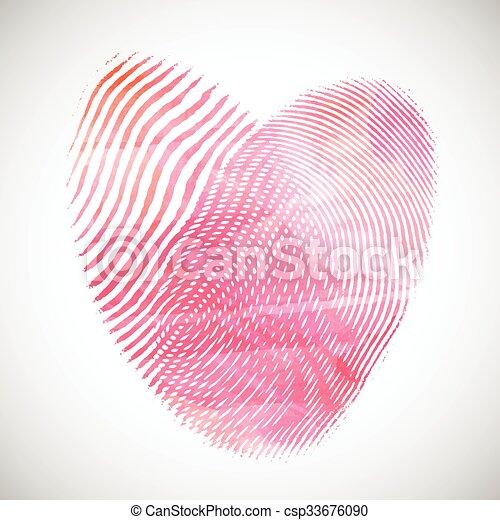 Aquarell Herzen Fingerabdruck Herz Valentines Fingerabdrucke
